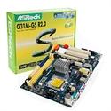 Asrock 90-MXGBQ0-A0UAYZ - Asrock G31M-GS R2.0. Memoria interna máxima: 8 GB. Familia de procesador: Intel, Socket de